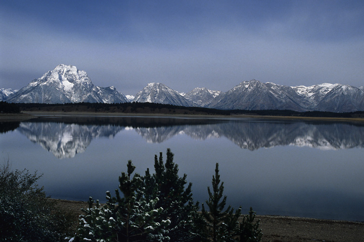 Abendstimmung am Jackson Lake, Grand Teton N.P. / WY