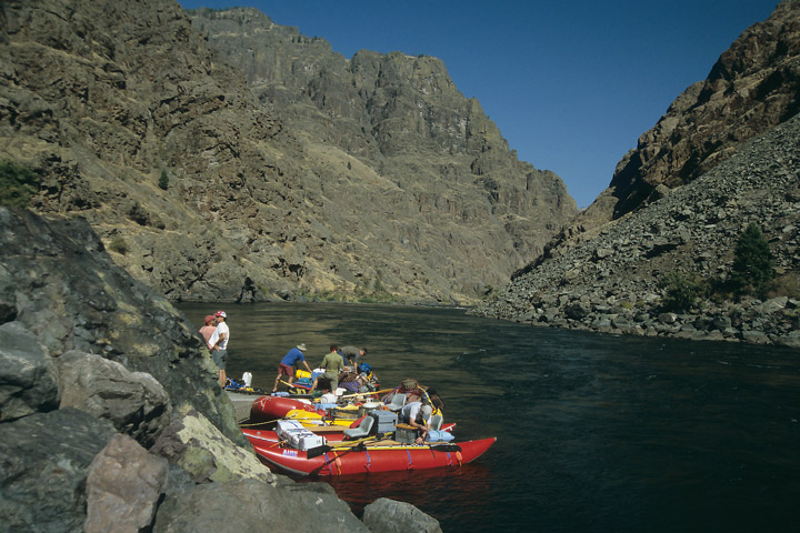 Raftingvorbereitungen im Hells Canyon / OR