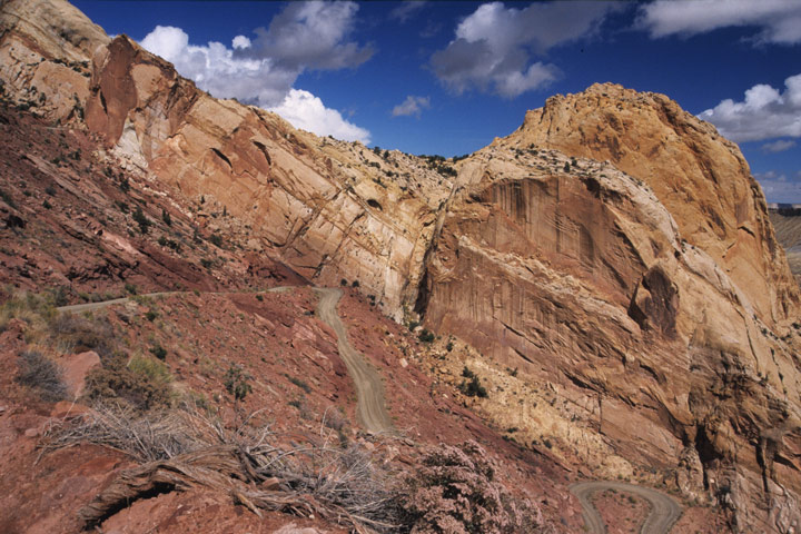 Switchbacks am Burr Trail