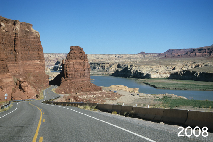 HWY95, Ende Lake Powell